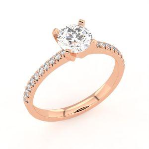 Aumika Halo Round Diamond Ring