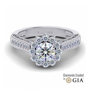 Solitaire Engagement Ring with Side Diamonds